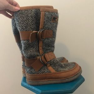 Sorel Wool and Leather Boots